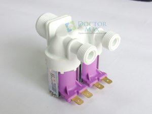 Válvula solenoide dupla 12v saída com rosca